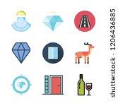 stone icon set. vector set... | Shutterstock .eps vector #1206436885