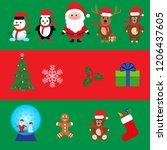 merry christmas  happy... | Shutterstock .eps vector #1206437605