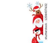 merry christmas  happy... | Shutterstock .eps vector #1206437632
