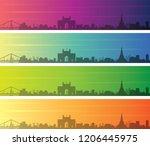 mumbai multiple color gradient... | Shutterstock .eps vector #1206445975