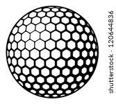 vector golf ball symbol   Shutterstock .eps vector #120644836