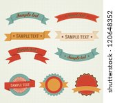 set of retro vintage vector... | Shutterstock .eps vector #120648352