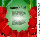 banner for text with bright... | Shutterstock .eps vector #1206483868