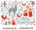 new year's greeting card.... | Shutterstock .eps vector #1206484195