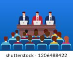 business conferences and... | Shutterstock .eps vector #1206488422