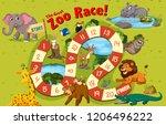 wild animals board game...   Shutterstock .eps vector #1206496222