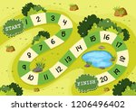 simple green nature board game... | Shutterstock .eps vector #1206496402