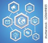 social media concept   abstract ... | Shutterstock . vector #120649855