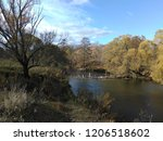 autumn landscape river with the ... | Shutterstock . vector #1206518602