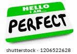 hello i am perfect ideal best... | Shutterstock . vector #1206522628