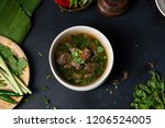 sup tulang or bone soup ... | Shutterstock . vector #1206524005
