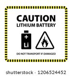 a lithium ion or lithium metal... | Shutterstock .eps vector #1206524452