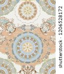 baroque damask pattern ...   Shutterstock . vector #1206528172
