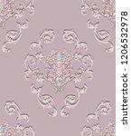 baroque damask pattern ...   Shutterstock . vector #1206532978