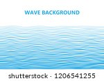 abstract blue lines wave... | Shutterstock .eps vector #1206541255