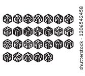 alphabet cube icon in trendy... | Shutterstock .eps vector #1206542458
