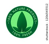 product label for nature ... | Shutterstock .eps vector #1206545512