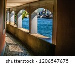the lakeside cloister in zurich | Shutterstock . vector #1206547675