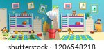 messy children room with... | Shutterstock .eps vector #1206548218