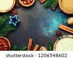 christmas or new year... | Shutterstock . vector #1206548602