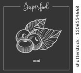 delicious healthy ecotic acai... | Shutterstock .eps vector #1206554668