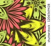 seamless floral background.... | Shutterstock .eps vector #1206569428