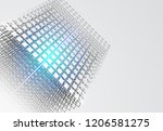 wireframe structure. geometric... | Shutterstock .eps vector #1206581275