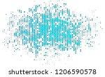light blue vector backdrop with ... | Shutterstock .eps vector #1206590578