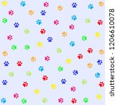 vector pattern seamless with...   Shutterstock .eps vector #1206610078