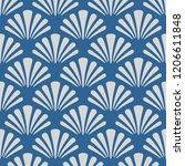 japanese sea shell pattern   Shutterstock .eps vector #1206611848