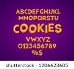 cookies alphabet vector set.... | Shutterstock .eps vector #1206623605