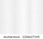 abstract monochrome halftone... | Shutterstock .eps vector #1206627145