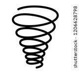metal twisted suspension spring ...   Shutterstock .eps vector #1206628798