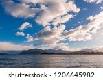 white cloud and blue sky on... | Shutterstock . vector #1206645982