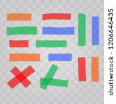 set realistic colorful adhesive ... | Shutterstock .eps vector #1206646435