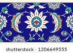 floral border for your design.... | Shutterstock .eps vector #1206649555