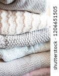 winter and fall cozy sweaters... | Shutterstock . vector #1206651505