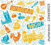 seth symbols of portugal ... | Shutterstock .eps vector #1206658525