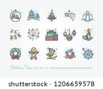 christmas time icon set