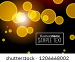 orange black modern poster.... | Shutterstock .eps vector #1206668002