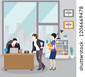 collection of business... | Shutterstock .eps vector #1206669478