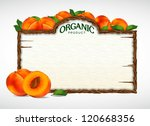 peach menu board | Shutterstock .eps vector #120668356