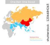 """one belt one road"" new silk... | Shutterstock .eps vector #1206684265"