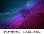 data connection speed line....   Shutterstock . vector #1206685402