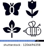 set of 4 nature filled icons... | Shutterstock .eps vector #1206696358