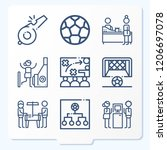 simple set of 9 icons such as... | Shutterstock .eps vector #1206697078