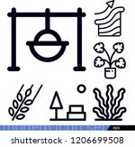 set of 6 nature outline icons... | Shutterstock .eps vector #1206699508