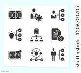 simple set of 9 icons   such as ... | Shutterstock .eps vector #1206700705