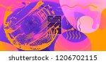 luid color background. liquid... | Shutterstock .eps vector #1206702115