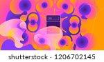 luid color background. liquid... | Shutterstock .eps vector #1206702145